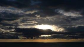 Timelapse του ηλιοβασιλέματος απόθεμα βίντεο