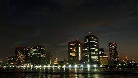 Timelapse του ηλιοβασιλέματος cloudscape πέρα από το Τόκιο φιλμ μικρού μήκους