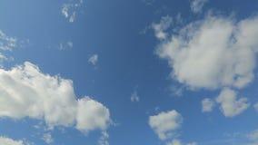 Timelapse του θερινού ουρανού απόθεμα βίντεο