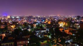 Timelapse του Κατμαντού που φωτίζεται για Tihar απόθεμα βίντεο