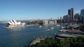 Timelapse του λιμένα του Σίδνεϊ βαρκών που πηγαίνει μέσα έξω στην Αυστραλία απόθεμα βίντεο