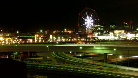 Timelapse του Τόκιο nightscape απόθεμα βίντεο