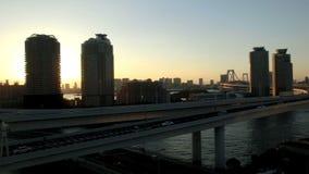 Timelapse του λυκόφατος του Τόκιο φιλμ μικρού μήκους