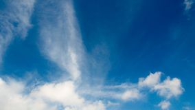 Timelapse των άσπρων σύννεφων με το μπλε ουρανό στο υπόβαθρο απόθεμα βίντεο