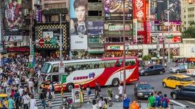 Timelapse των πληθών σε Ximending, που φιλτράρει timelapse απόθεμα βίντεο