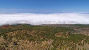 Timelapse των σύννεφων που κινούνται στο ηφαίστειο Teide βουνών Tenerife, Κανάρια νησιά Ισπανία απόθεμα βίντεο