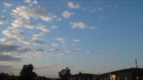 Timelapse των σύννεφων στη χαραυγή φιλμ μικρού μήκους