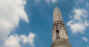 Timelapse башни виска Бангкока сток-видео