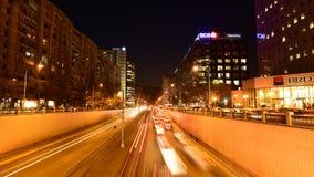 Timelapse Бухареста - быстрое движение акции видеоматериалы