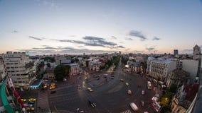 Timelapse Бухареста - быстрое движение видеоматериал