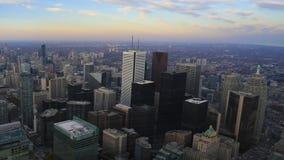timelapse взгляда 4K UltraHD широкое над Торонто, Канадой видеоматериал