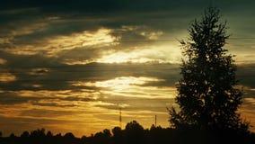 Timelapse восхода солнца видеоматериал