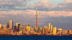 Timelapse городского Burlington, Канады 4K видеоматериал