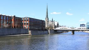 Timelapse Кембридж, Канада на большом реке 4K сток-видео