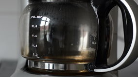Timelapse кофеварки сток-видео