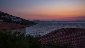 Timelapse неба захода солнца Kas, Турция видеоматериал