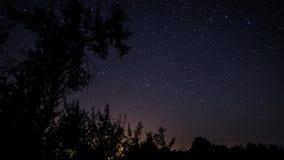 Timelapse ночного неба акции видеоматериалы
