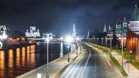 Timelapse обваловки реки Москвы Россия видеоматериал