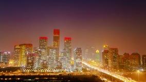 Timelapse обозревать район Cbd Пекин сток-видео