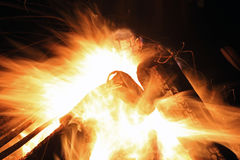 Timelapse огня Стоковое Изображение