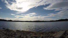 Timelapse озера сток-видео