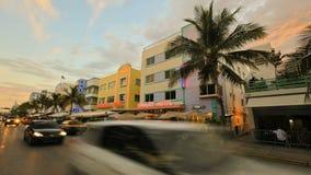Timelapse привода океана Miami Beach акции видеоматериалы