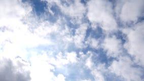 Timelapse при облака двигая 4k сток-видео