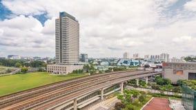 Timelapse станции метро взаимообмена Jurong восточное воздушное, один из главного интегрированного эпицентра деятельности обществ сток-видео