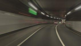 Timelapse - столичный след круга скоростной дороги по часовой стрелке сток-видео