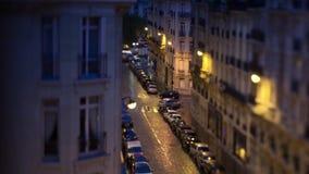 Timelapse утра приходя в Париж, взгляд к улице акции видеоматериалы