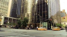 Timelapse уличного движения Нью-Йорка сток-видео