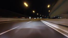 Timelapse через nightscape города токио сток-видео
