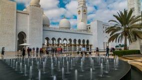 Timelapse шейха Zayed Грандиозн Мечети расположенное в Абу-Даби - столице Объединенных эмиратов видеоматериал