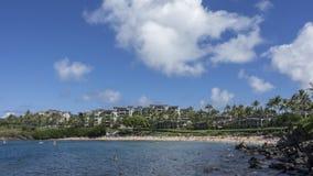 Timelapse -在卡帕拉奥阿海湾的运动的云彩 影视素材