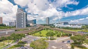 Timelapse aereo della stazione della metropolitana orientale di scambio di Jurong, uno del hub integrato principale del trasporto stock footage