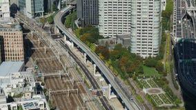 Timelapse aereo di paesaggio urbano di Tokyo video d archivio