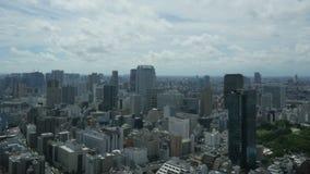Timelapse aereo di paesaggio urbano di Tokyo stock footage