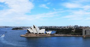 Timelapse aerial of the Sydney Opera House in Australia 4K. The Iconic building opened in 1973