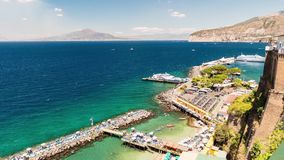 Timelapse with view of Mount Vesuvius, Bay of Naples, Italy stock video footage