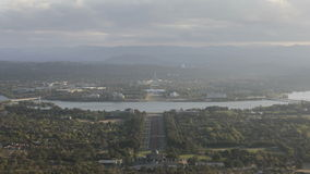 Timelapse aerialview Canberra stock video