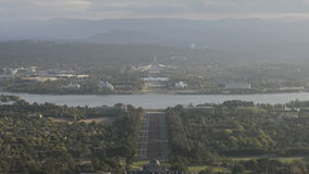 Timelapse aerialview Canberra stock video footage