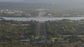Timelapse aerialview Canberra stock footage