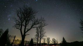 Timelapse alla notte con le stelle 4K video d archivio