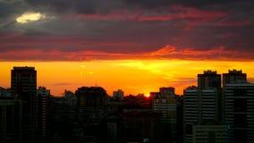 Timelapse of amazing Cityscape Sunset at stock footage