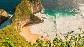 Timelapse Amazing Coastline near Manta Bay or Kelingking Beach on Nusa Penida Island, Bali, Indonesia. 4K Timelapse in Nusa Penida Island, Bali, Indonesia stock video