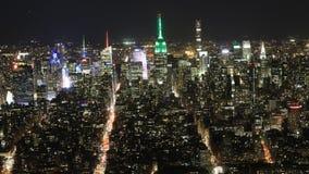 timelapse ancho de la noche de 4K UltraHD de Manhattan metrajes