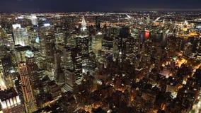 Timelapse ancho de la noche de Manhattan 4K almacen de video