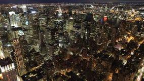 Timelapse ancho de Manhattan en la noche 4K metrajes