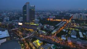 Timelapse-Ansicht von Bangkok-Stadt scape bei Sonnenuntergang stock video