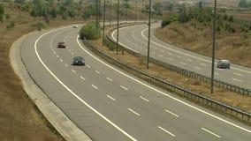 Timelapse aoutoban del tráfico de la carretera metrajes